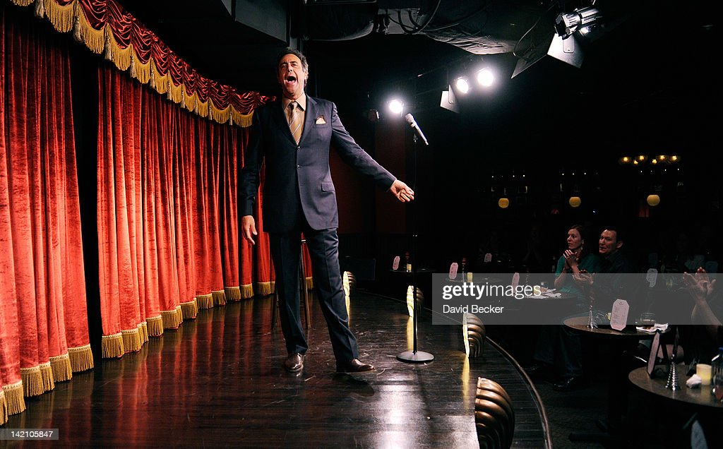 Comedian Brad Garrett performs at grand opening of his new comedy club Brad Garrett's Comedy Club at the MGM Grand Hotel/Casino on March 29 2012 in...
