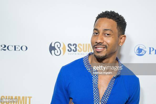 Comedian Brandon T Jackson attends the 2016 S3 Summit/PRO2CEO at College Football Hall of Fame on August 11 2016 in Atlanta Georgia