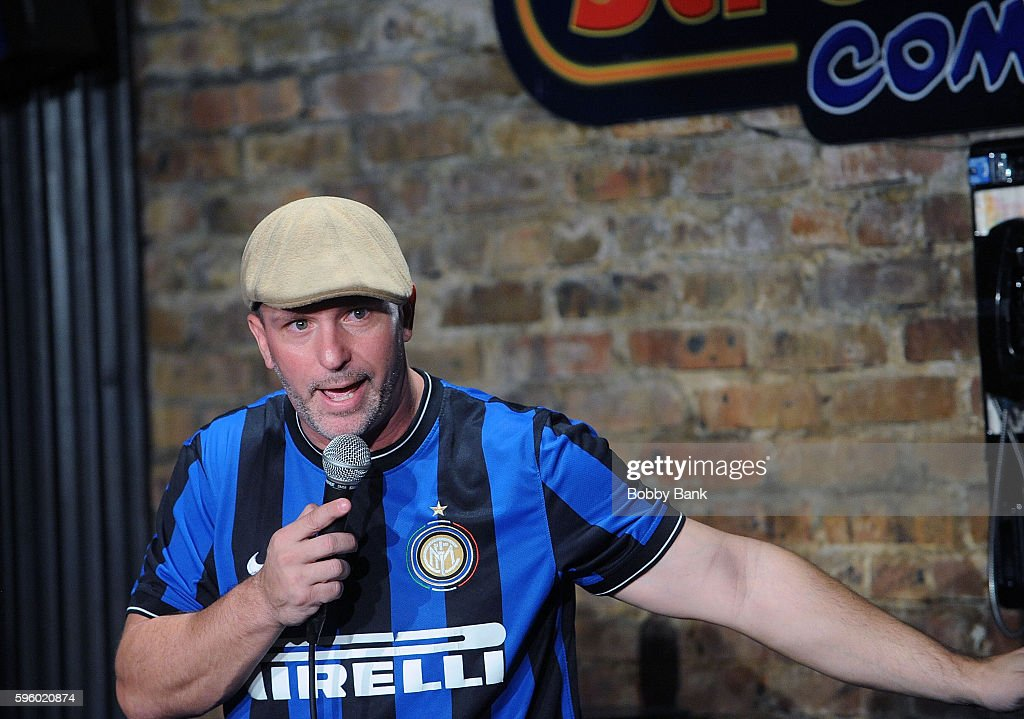 Comedian Brian Ricci performs at The Stress Factory Comedy Club on August 26 2016 in New Brunswick New Jersey