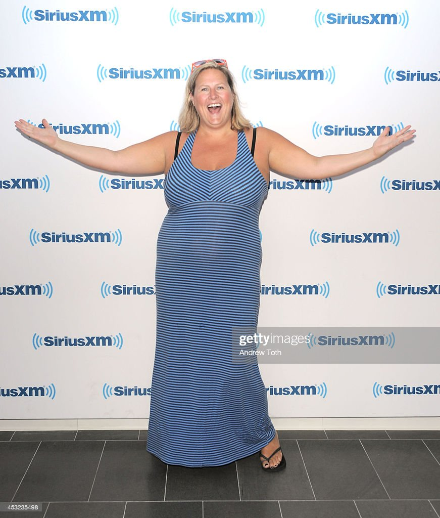 Comedian Bridget Everett visits SiriusXM Studios on August 5, 2014 in New York City.