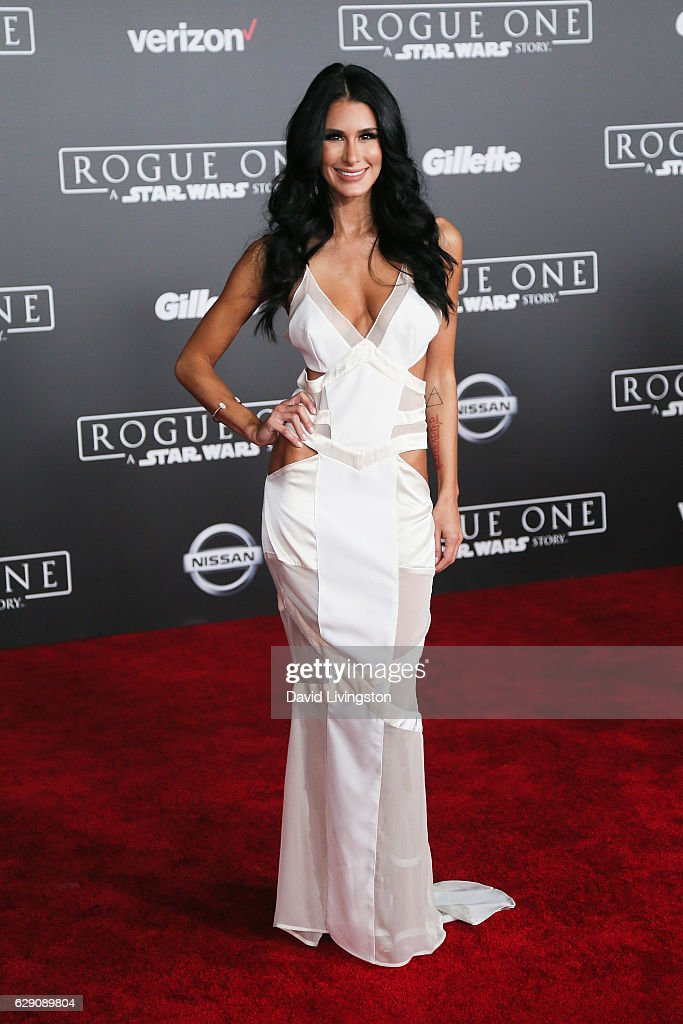 Comedian Brittany Furlan arrives at the premiere of Walt Disney Pictures and Lucasfilm's 'Rogue One: A Star Wars Story' at the Pantages Theatre on December 10, 2016 in Hollywood, California.