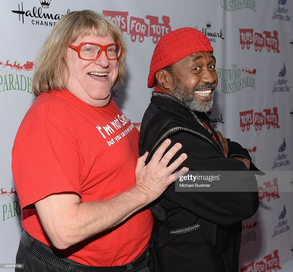 Comedian <a gi-track='captionPersonalityLinkClicked' href=/galleries/search?phrase=Bruce+Vilanch&family=editorial&specificpeople=228694 ng-click='$event.stopPropagation()'>Bruce Vilanch</a> (L) and actor Ben Vareen arrives at the 82nd Annual Hollywood Christmas Parade on Hollywood Blvd. on December 1, 2013 in Hollywood, California.