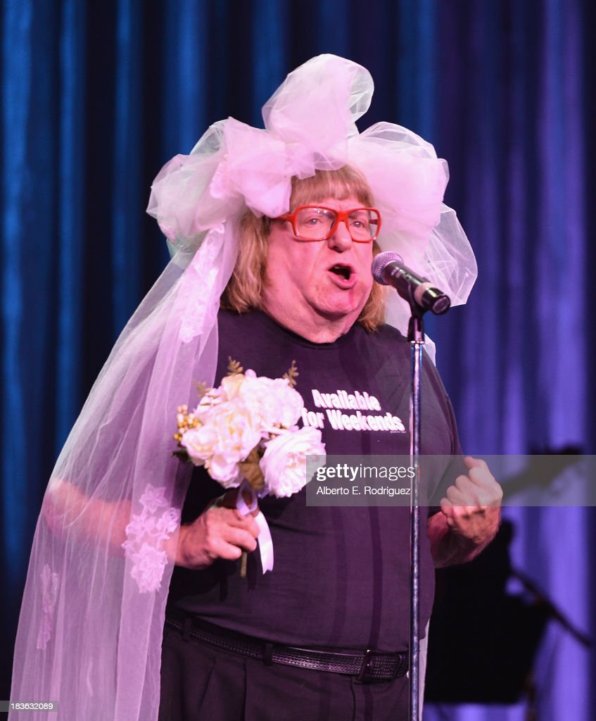 Comedian <a gi-track='captionPersonalityLinkClicked' href=/galleries/search?phrase=Bruce+Vilanch&family=editorial&specificpeople=228694 ng-click='$event.stopPropagation()'>Bruce Vilanch</a> attends The National Breast Cancer Coalition Fund presents The 13th Annual Les Girls at the Avalon on October 7, 2013 in Hollywood, California.