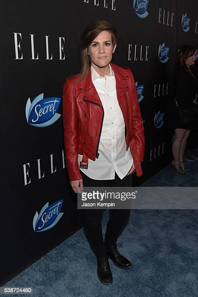 Comedian Cameron Esposito attends the Women In Comedy event with July cover stars Leslie Jones Melissa McCarthy Kate McKinnon and Kristen Wiig hosted...