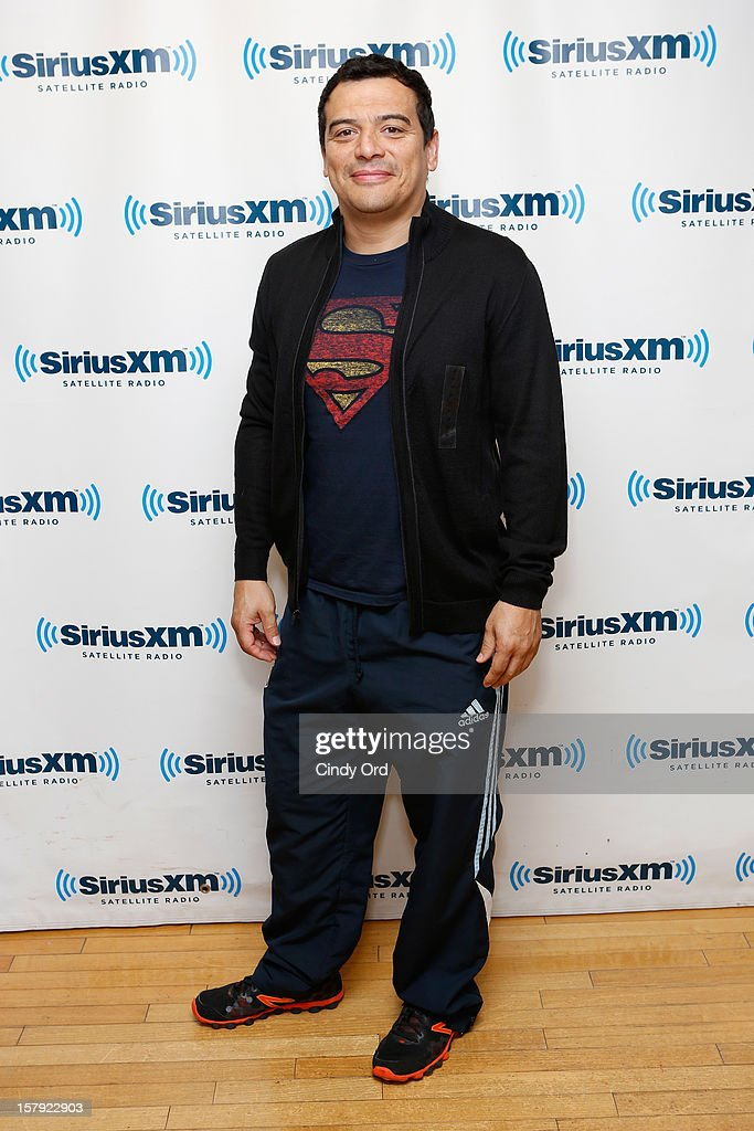 Comedian Carlos Mencia visits the SiriusXM Studios on December 7, 2012 in New York City.