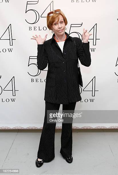 Comedian Carol Burnett poses backstage following a performance by Linda Lavin at 54 Below on September 17 2012 in New York City