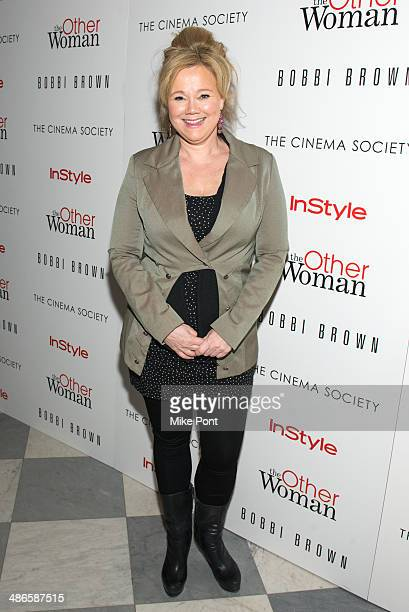 Comedian Caroline Rhea attends The Cinema Society Bobbi Brown with InStyle screening of 'The Other Woman' at The Paley Center for Media on April 24...
