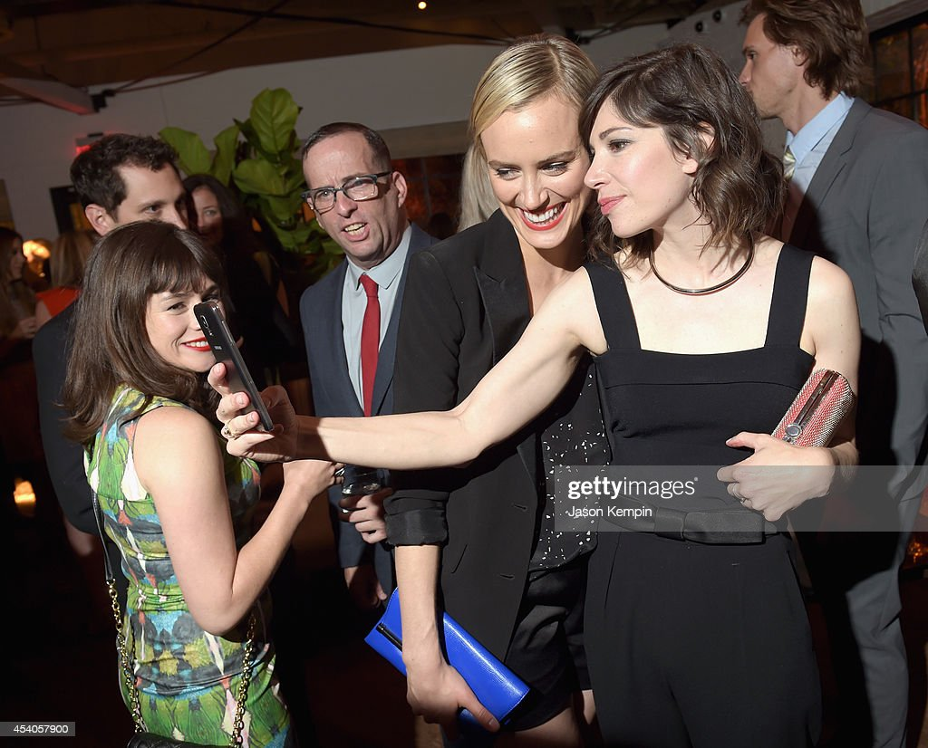 Comedian Carrie Brownstein actress Taylor Schilling attend Variety and Women in Film Emmy Nominee Celebration powered by Samsung Galaxy on August 23...