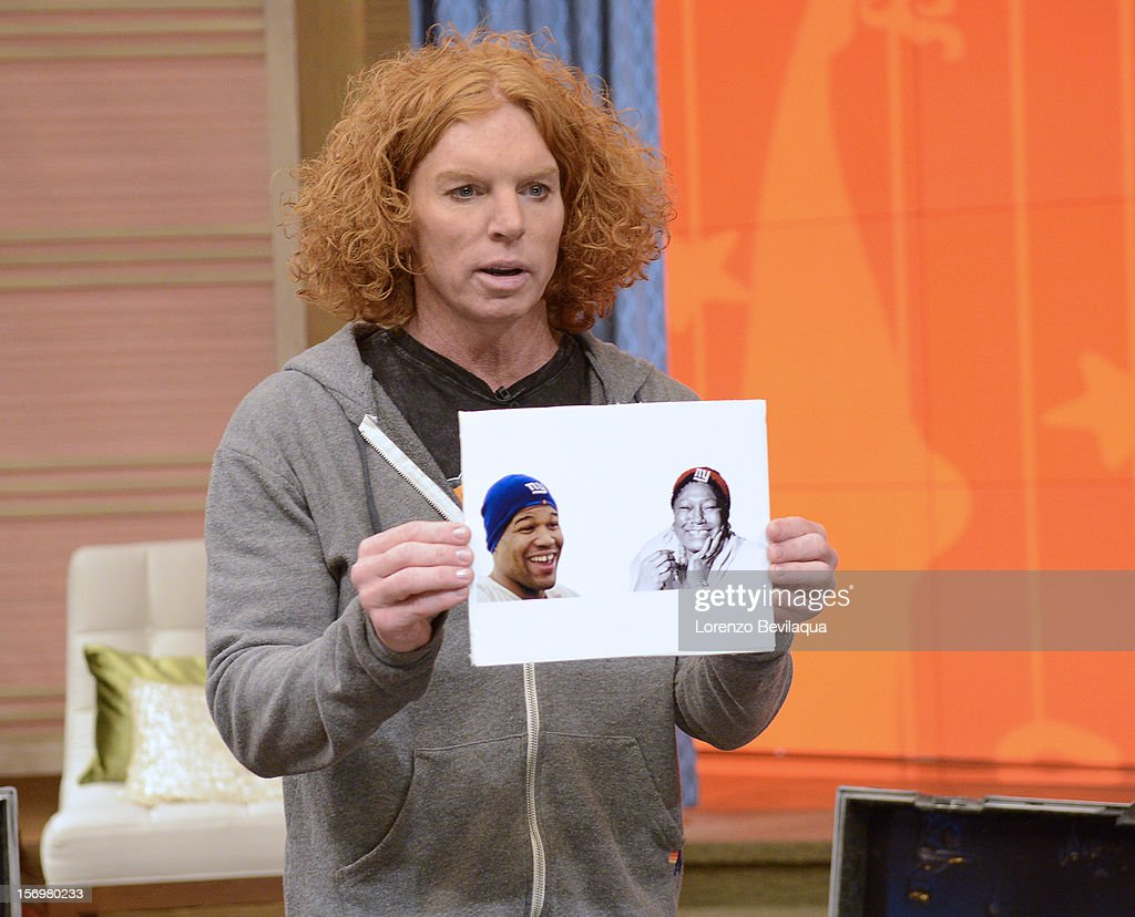 MICHAEL -11/26/12 - Comedian Carrot Top stops by the newly-rechristened syndicated talk show, LIVE with Kelly and Michael,' distributed by Disney-ABC Domestic Television. TOP