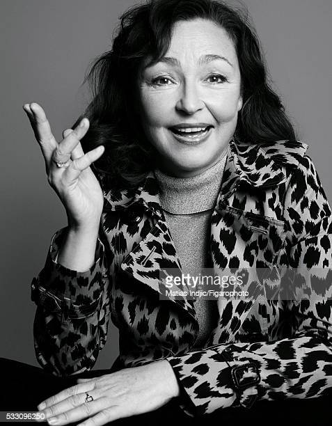 Comedian Catherine Frot is photographed for Madame Figaro on January 15 2016 in Paris France Trench coat PUBLISHED IMAGE CREDIT MUST READ Matias...