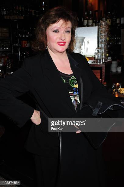 Comedian Catherine Jacob attends the Michael Gregorio Generale After Party at Le Bataclan Cafe on October 21 2010 in Paris France