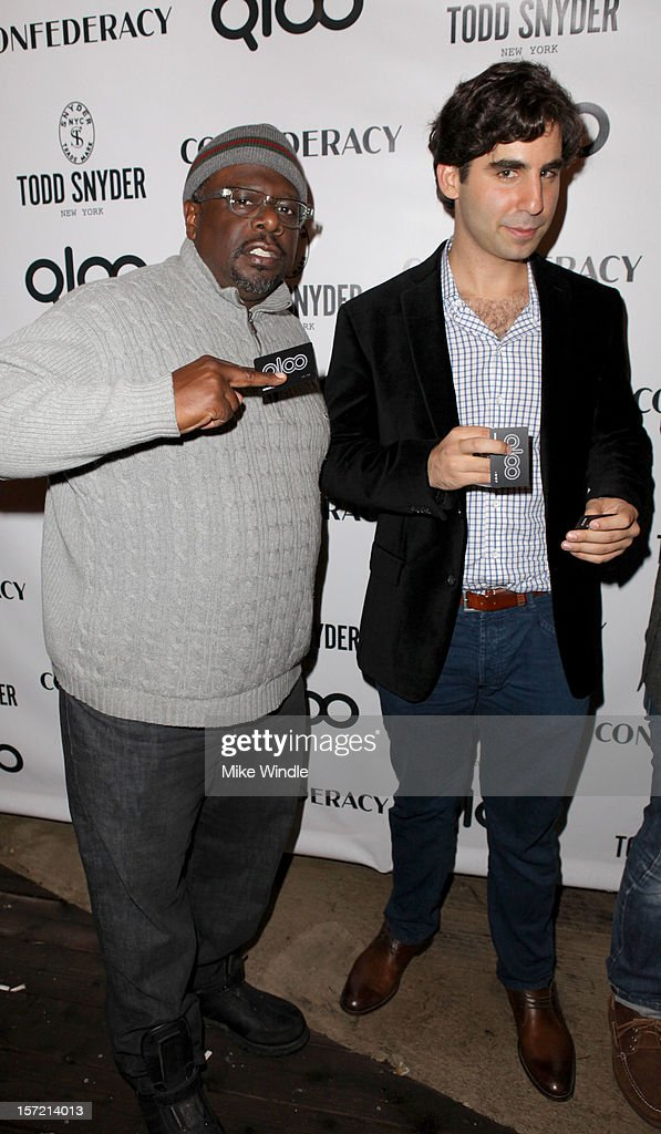 Comedian <a gi-track='captionPersonalityLinkClicked' href=/galleries/search?phrase=Cedric+the+Entertainer&family=editorial&specificpeople=210583 ng-click='$event.stopPropagation()'>Cedric the Entertainer</a> (L) and Qloo CEO Alex Elias attend Adam Scott hosts Todd Snyder Event sponsored by Qloo at Confederacy on November 29, 2012 in Los Angeles, California.