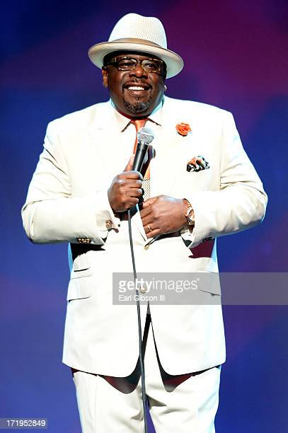 Comedian Cedric the Entertainer attends the Cedric The Entertainer And Friends Comedy Stage during the 2013 BET Experience at Club Nokia on June 29...