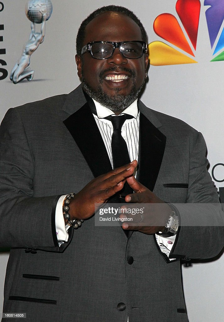 Comedian Cedric the Entertainer poses in the press room at the 44th NAACP Image Awards at the Shrine Auditorium on February 1, 2013 in Los Angeles, California.