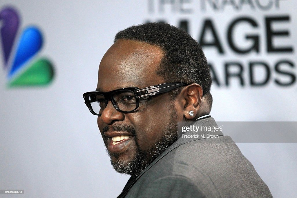 Comedian Cedric the Entertainer poses in the press room during the 44th NAACP Image Awards at The Shrine Auditorium on February 1, 2013 in Los Angeles, California.