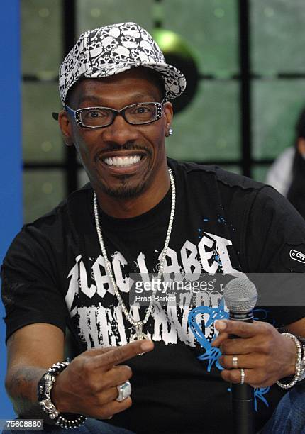 Comedian Charlie Murphy appears during taping of BET 106 Park on July 23 2007 in New York City