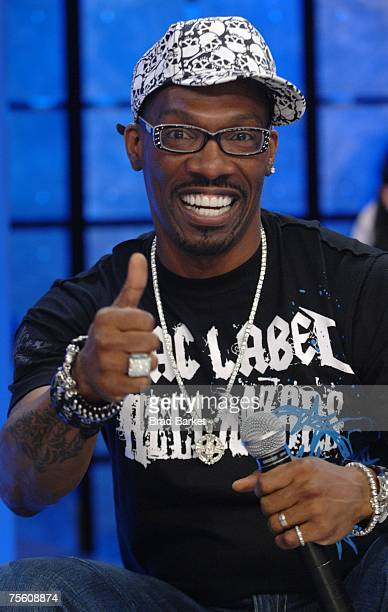 Comedian Charlie Murphy appears on a taping of BET 106 Park on July 23 2007 in New York City