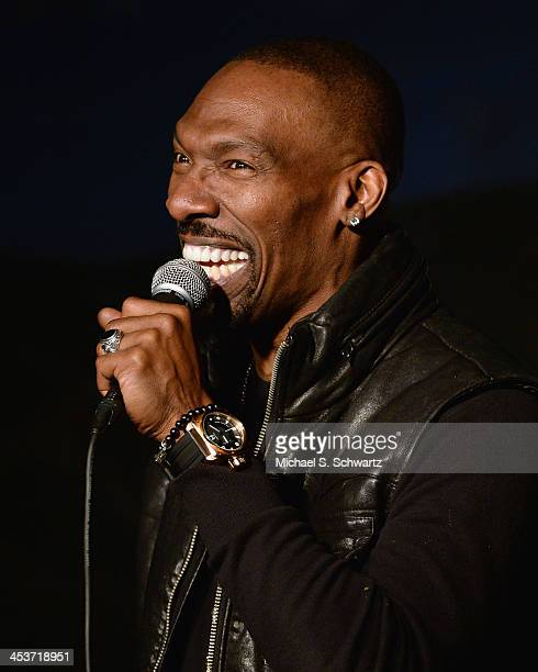 Comedian Charlie Murphy performs during his appearance at The Ice House Comedy Club on December 4 2013 in Pasadena California