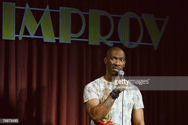 Comedian Charlie Murphy performs his stand up act in the Improv Comedy Club at the Seminole Hard Rock Hotel and Casino on August 4 2007 in Hollywood...