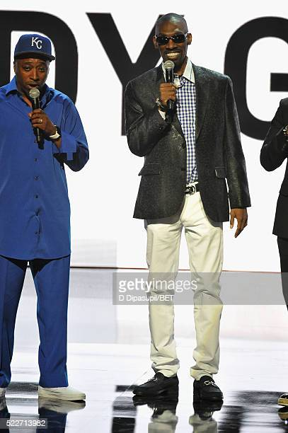 Comedian Charlie Murphy speaks onstage during BET Networks 2016 Upfront at Rose Hall at Jazz at Lincoln Center on April 20 2016 in New York City
