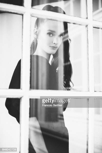 Comedian Charlotte Le Bon is photographed on September 9 2017 in Deauville France