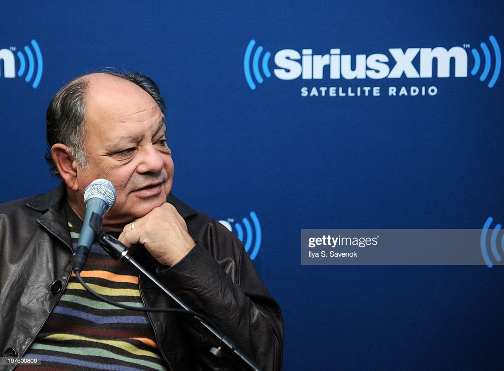 Comedian Cheech Marin attends 'SiriusXM's Town Hall with Cheech & Chong' moderated by Artie Lange at the SiriusXM Studios on April 25, 2013 in New York City.