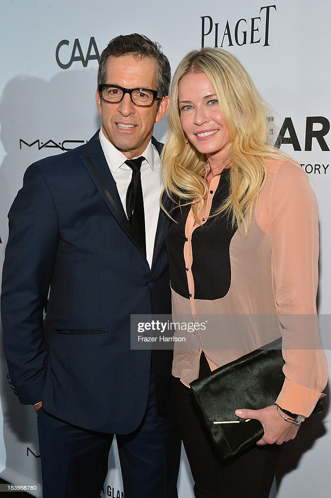 Comedian <a gi-track='captionPersonalityLinkClicked' href=/galleries/search?phrase=Chelsea+Handler&family=editorial&specificpeople=599162 ng-click='$event.stopPropagation()'>Chelsea Handler</a> (R) and Designer/amFAR Chairman Kenneth Cole arrive at amfAR's Inspiration Gala at Milk Studios on October 11, 2012 in Los Angeles, California.