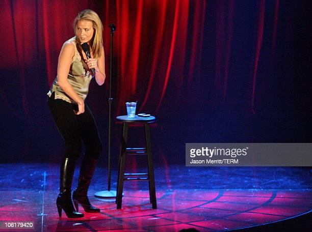 Comedian Chelsea Handler on stage during Chelsea Handler and Jim Breuer at HBO AEG Live's 'The Comedy Festival' 2007 at Caesars Palace on November 16...