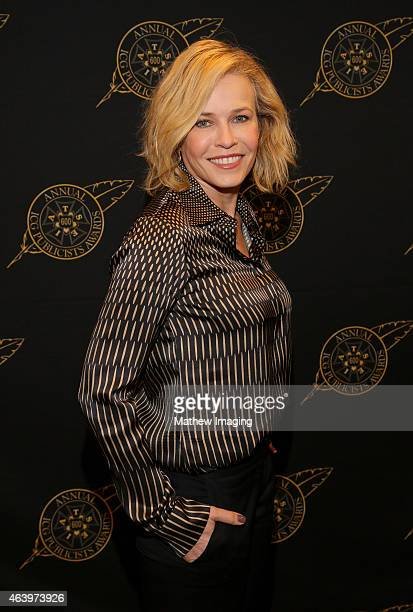 Comedian Chelsea Handler poses backstage at the 52nd Annual ICG Publicists Awards at The Beverly Hilton Hotel on February 20 2015 in Beverly Hills...