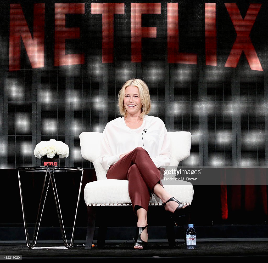 Comedian Chelsea Handler speaks onstage during the 'Chelsea Does' panel discussion at the Netflix portion of the 2015 Summer TCA Tour at The Beverly Hilton Hotel on July 28, 2015 in Beverly Hills, California.