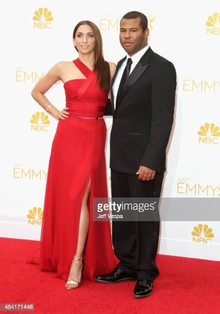 Comedian Chelsea Peretti and Jordan Peele attend the 66th Annual Primetime Emmy Awards held at Nokia Theatre LA Live on August 25 2014 in Los Angeles...