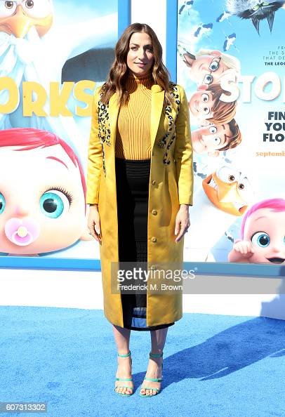 Comedian Chelsea Peretti arrives at the premiere of Warner Bros Pictures' 'Storks' at Regency Village Theatre on September 17 2016 in Westwood...