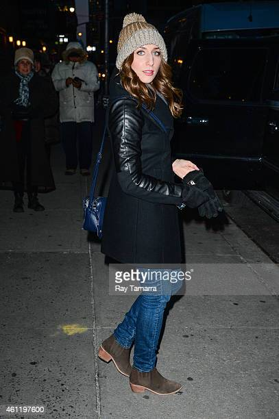 Comedian Chelsea Peretti leaves the 'Late Show With David Letterman' taping at the Ed Sullivan Theater on January 8 2015 in New York City