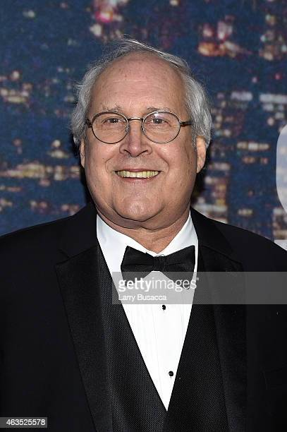 Comedian Chevy Chase attends SNL 40th Anniversary Celebration at Rockefeller Plaza on February 15 2015 in New York City