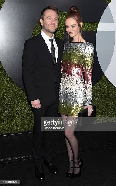Comedian Chris Hardwick and model Lydia Hearst attend the GQ 20th Anniversary Men Of The Year Party at Chateau Marmont on December 3 2015 in Los...