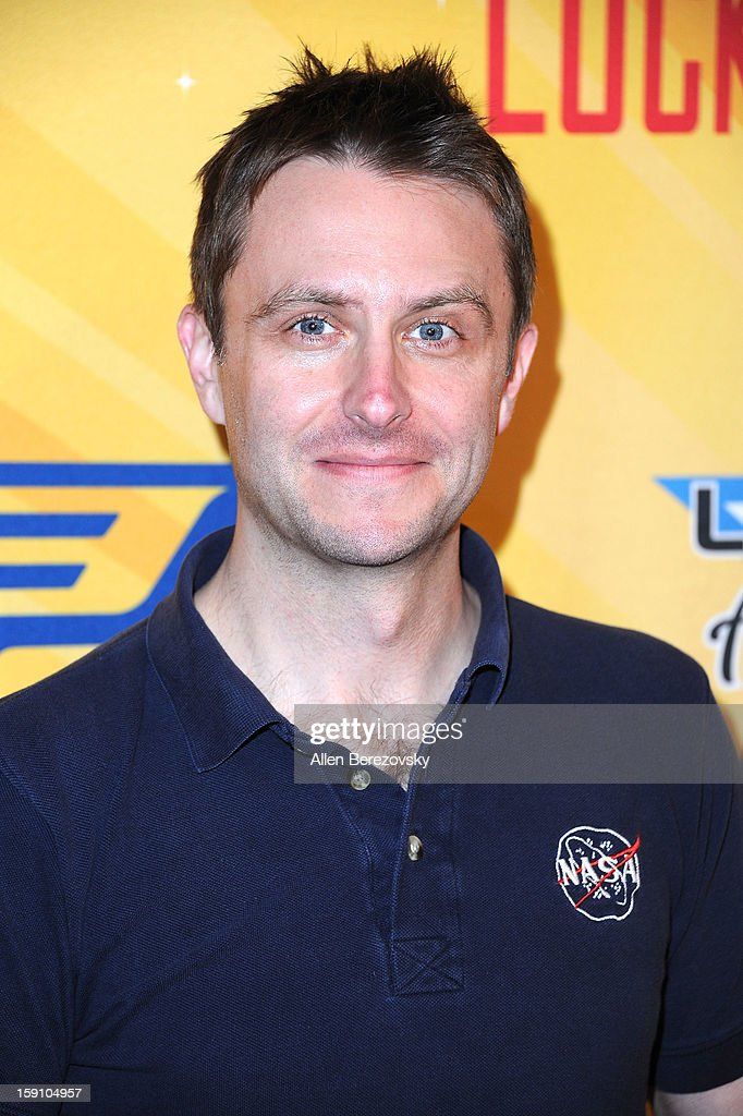 Comedian Chris Hardwick arrives at the 5th annual Chris Paul PBA All-Stars Invitational hosted by LA Clippers star guard Chris Paul at Lucky Strike Lanes at L.A. Live on January 7, 2013 in Los Angeles, California.