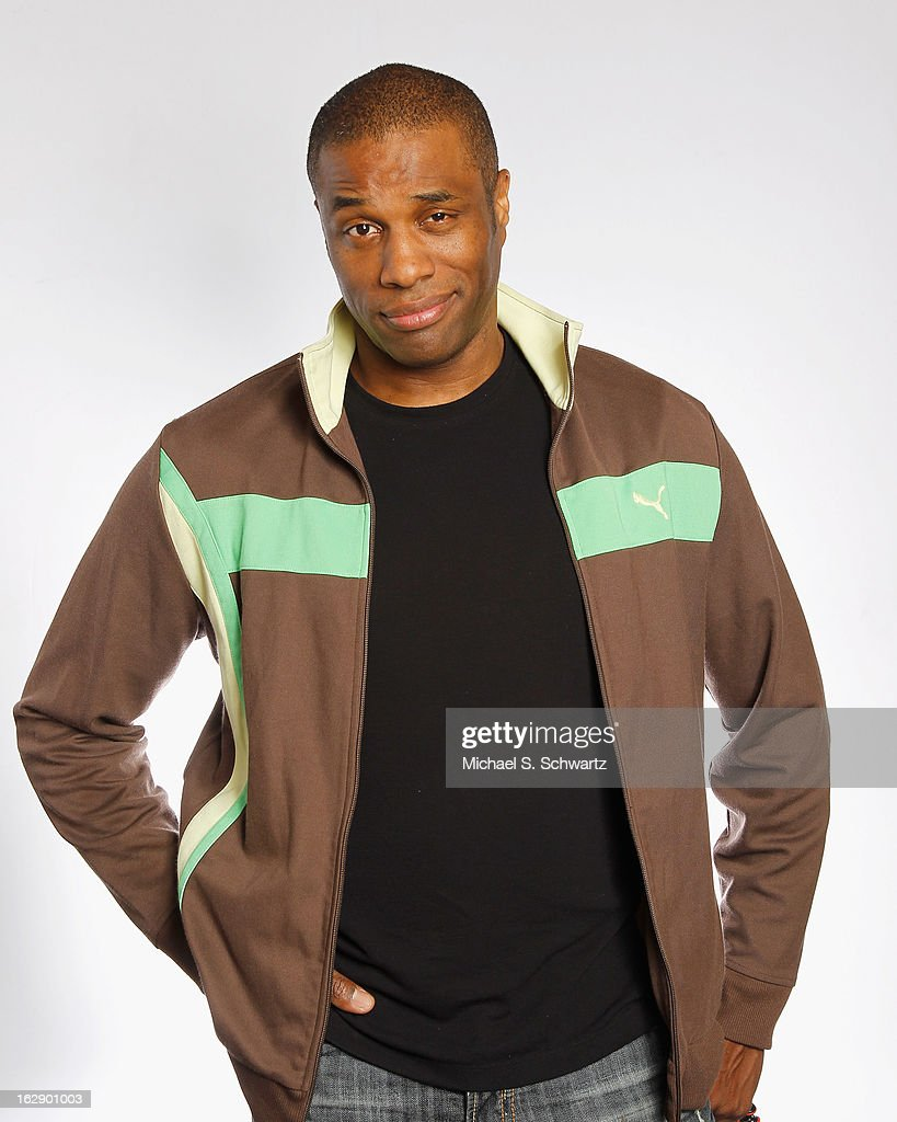 Comedian Chris James poses after his performance at The Ice House Comedy Club on February 28, 2013 in Pasadena, California.