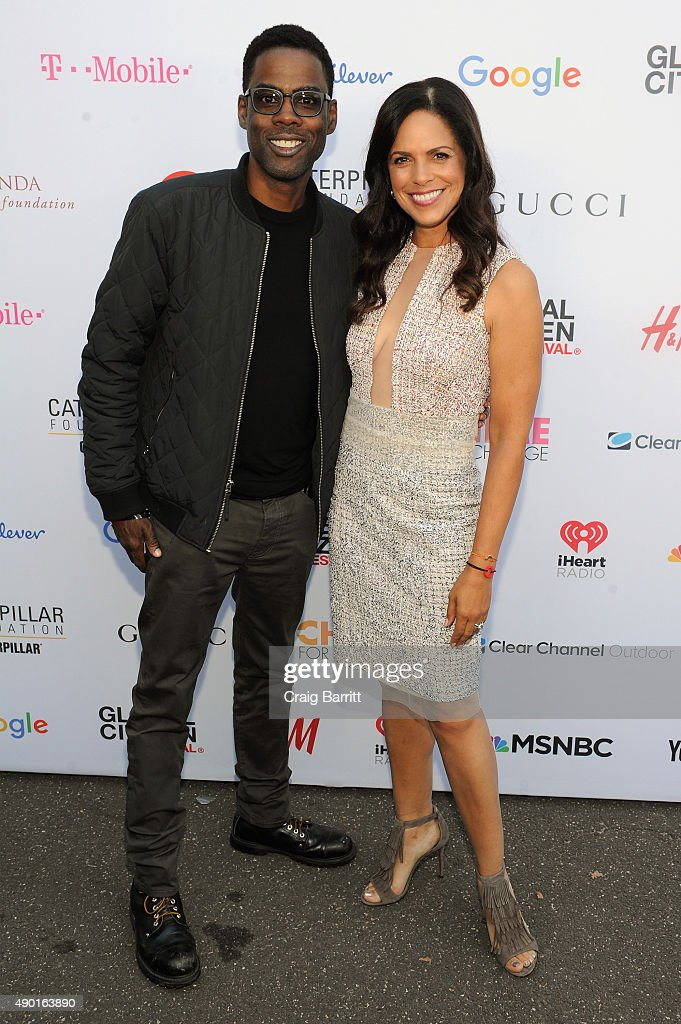 Comedian Chris Rock (L) and journalist Soledad O'Brien attends the 2015 Global Citizen Festival to end extreme poverty by 2030 in Central Park on September 26, 2015 in New York City.