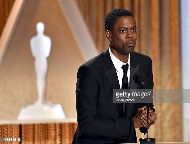 Comedian Chris Rock speaks onstage during the Academy Of Motion Picture Arts And Sciences' 2014 Governors Awards at The Ray Dolby Ballroom at...