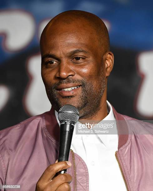 Comedian Chris Spencer performs during his appearance at The Ice House Comedy Club on October 7 2017 in Pasadena California