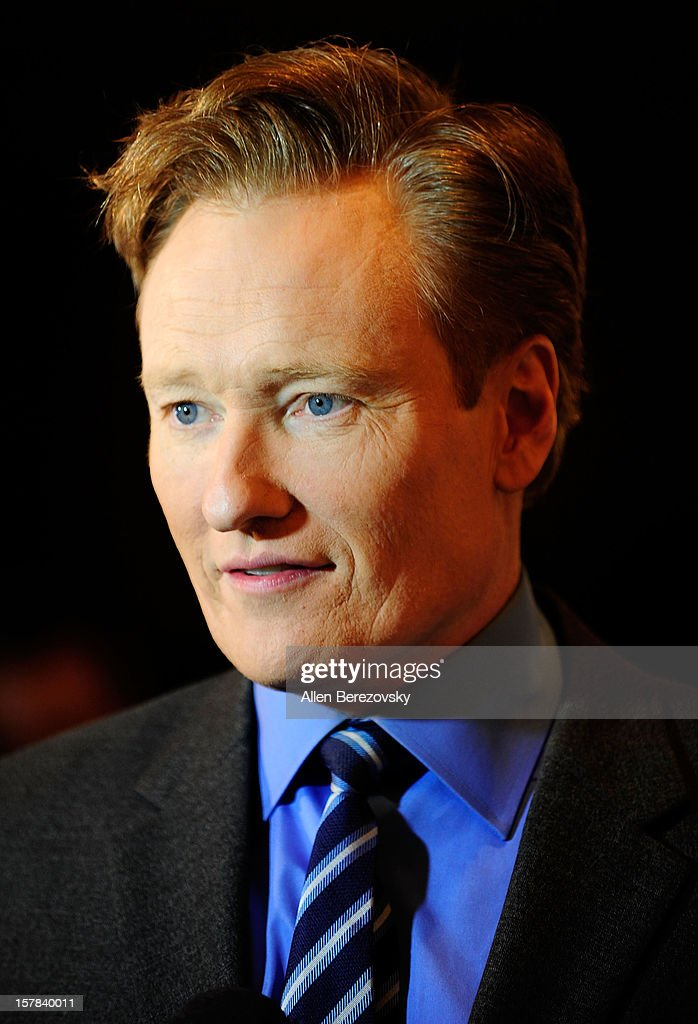 Comedian Conan O'Brien arrives at the Children's Defense Fund of California 22nd Annual Beat The Odds Awards at Beverly Hills Hotel on December 6, 2012 in Beverly Hills, California.