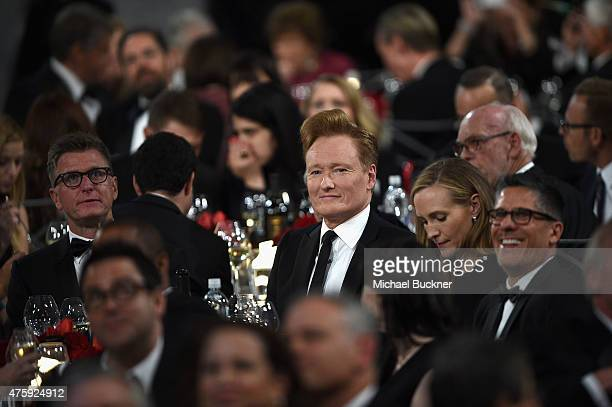 Comedian Conan O'Brien attends the 2015 AFI Life Achievement Award Gala Tribute Honoring Steve Martin at the Dolby Theatre on June 4 2015 in...