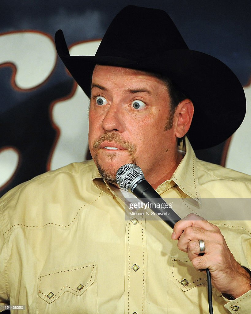 Comedian Cowboy <a gi-track='captionPersonalityLinkClicked' href=/galleries/search?phrase=Billy+Martin&family=editorial&specificpeople=93150 ng-click='$event.stopPropagation()'>Billy Martin</a> performs during his appearance at The Ice House Comedy Club on October 19, 2012 in Pasadena, California.