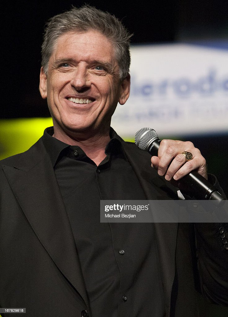Comedian <a gi-track='captionPersonalityLinkClicked' href=/galleries/search?phrase=Craig+Ferguson+-+Talk+Show+Host&family=editorial&specificpeople=204509 ng-click='$event.stopPropagation()'>Craig Ferguson</a> performs on stage at Scleroderma Research Foundation's Cool Comedy - Hot Cuisine at Regent Beverly Wilshire Hotel on April 30, 2013 in Beverly Hills, California.