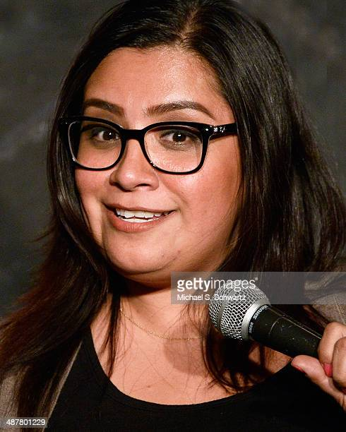 Comedian Cristela Alonzo performs during her appearance at The Ice House Comedy Club on May 1 2014 in Pasadena California