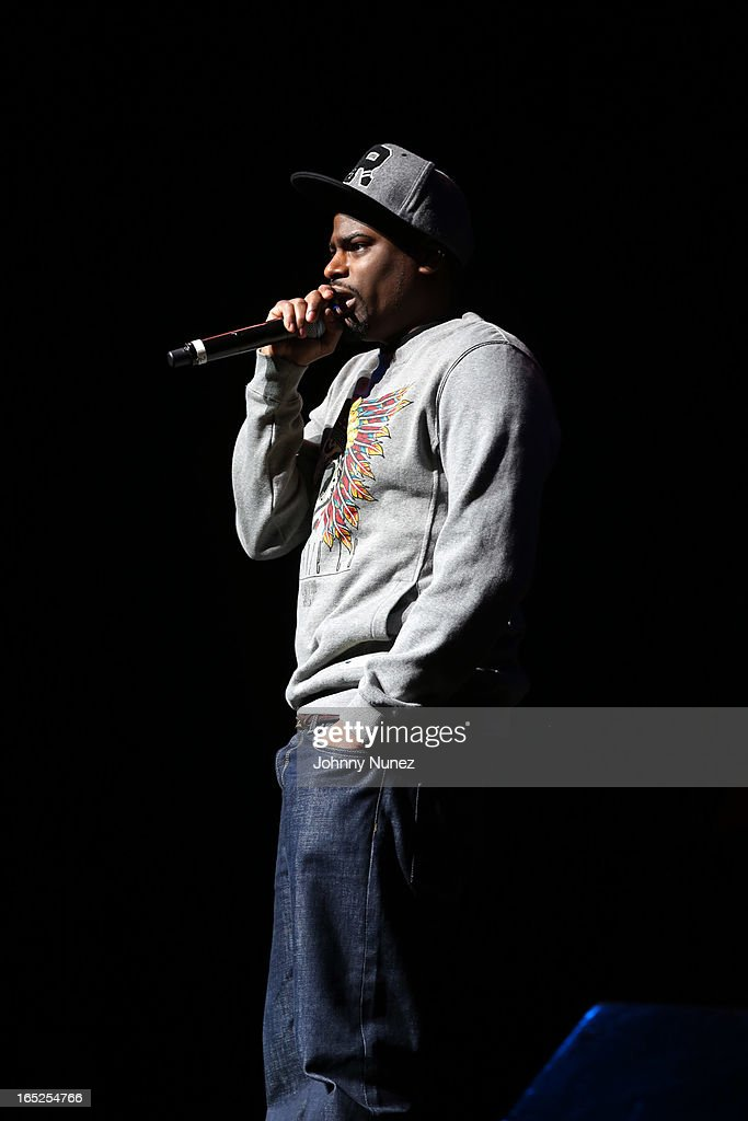 Comedian Damien Lemon performs at Hot 97's April Fool's Comedy Show at The Theater at Madison Square Garden on April 1, 2013, in New York City.