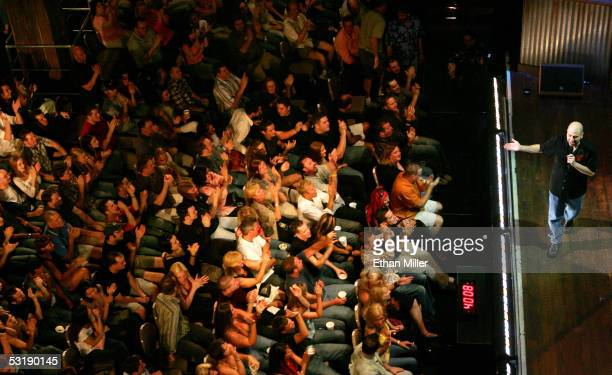 Comedian Dave Attell performs at the House of Blues inside the Mandalay Bay Resort Casino on July 2 2005 in Las Vegas Nevada Comedy Central is...