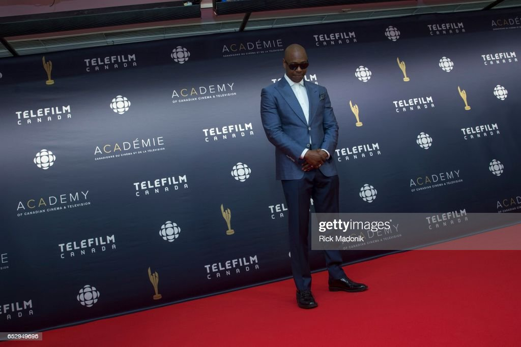 Comedian Dave Chappelle arrives as he is slated to be a presenter at the Canadian Screen Awards. He's on the red carpet at Sony Centre for the Performing Arts ahead of the show.