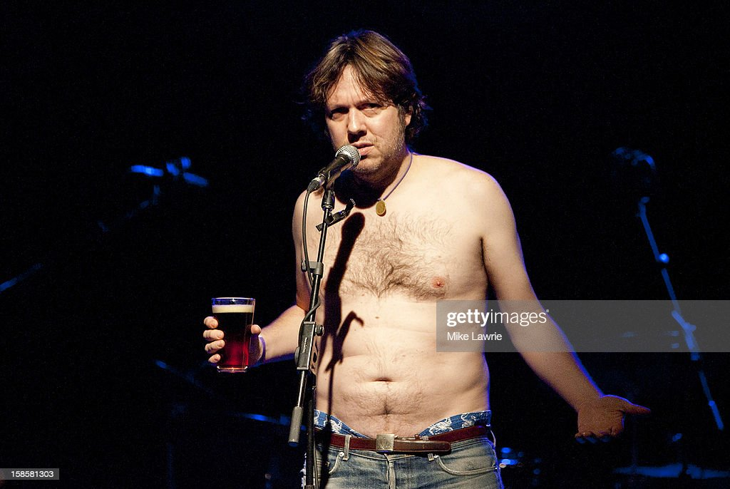 Comedian Dave Hill introduces Deer Tick at Brooklyn Bowl on December 19, 2012 in New York City.