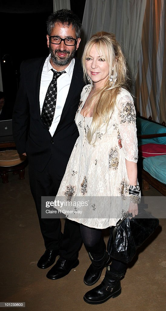 Comedian David Baddiel and his guest attend the after party following the UK premiere of 'Sex And The City 2' at The Orangery, Kensington Gardens on May 27, 2010 in London, England.